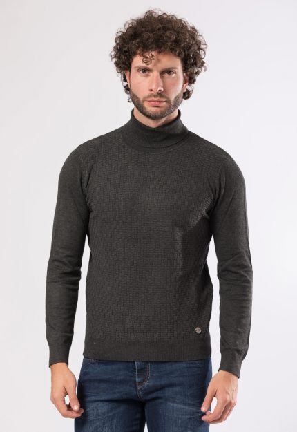 Dolcevita antracite slim fit
